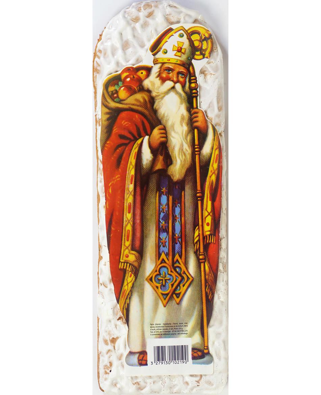 Saint Nicolas en pain d'épices glacé au sucre