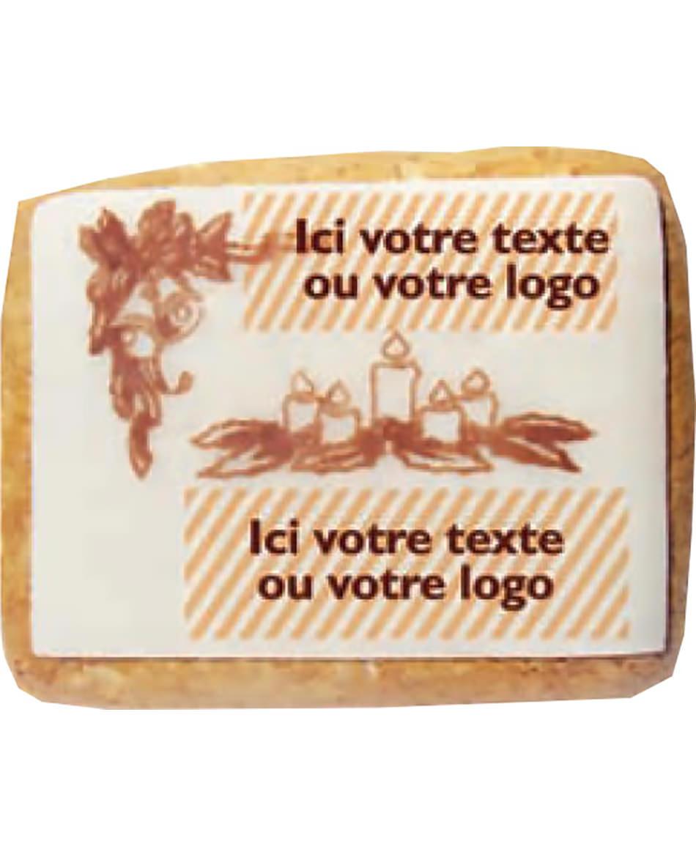 Carte postale en pain d'épices décoré petit modèle