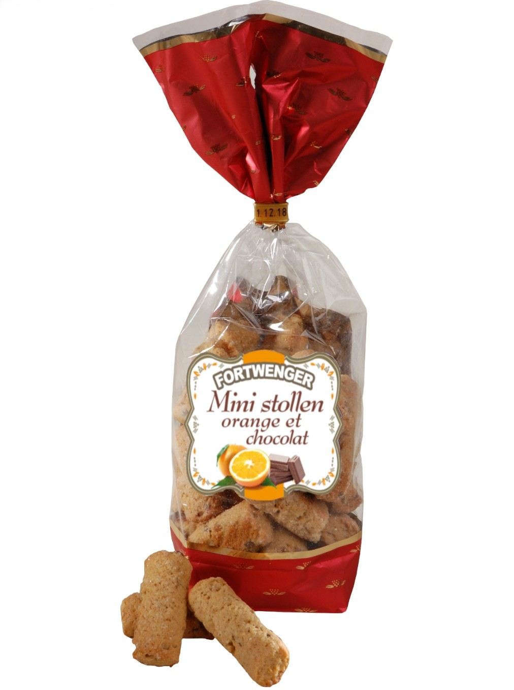 Mini stollen à l'orange et pépites de chocolat