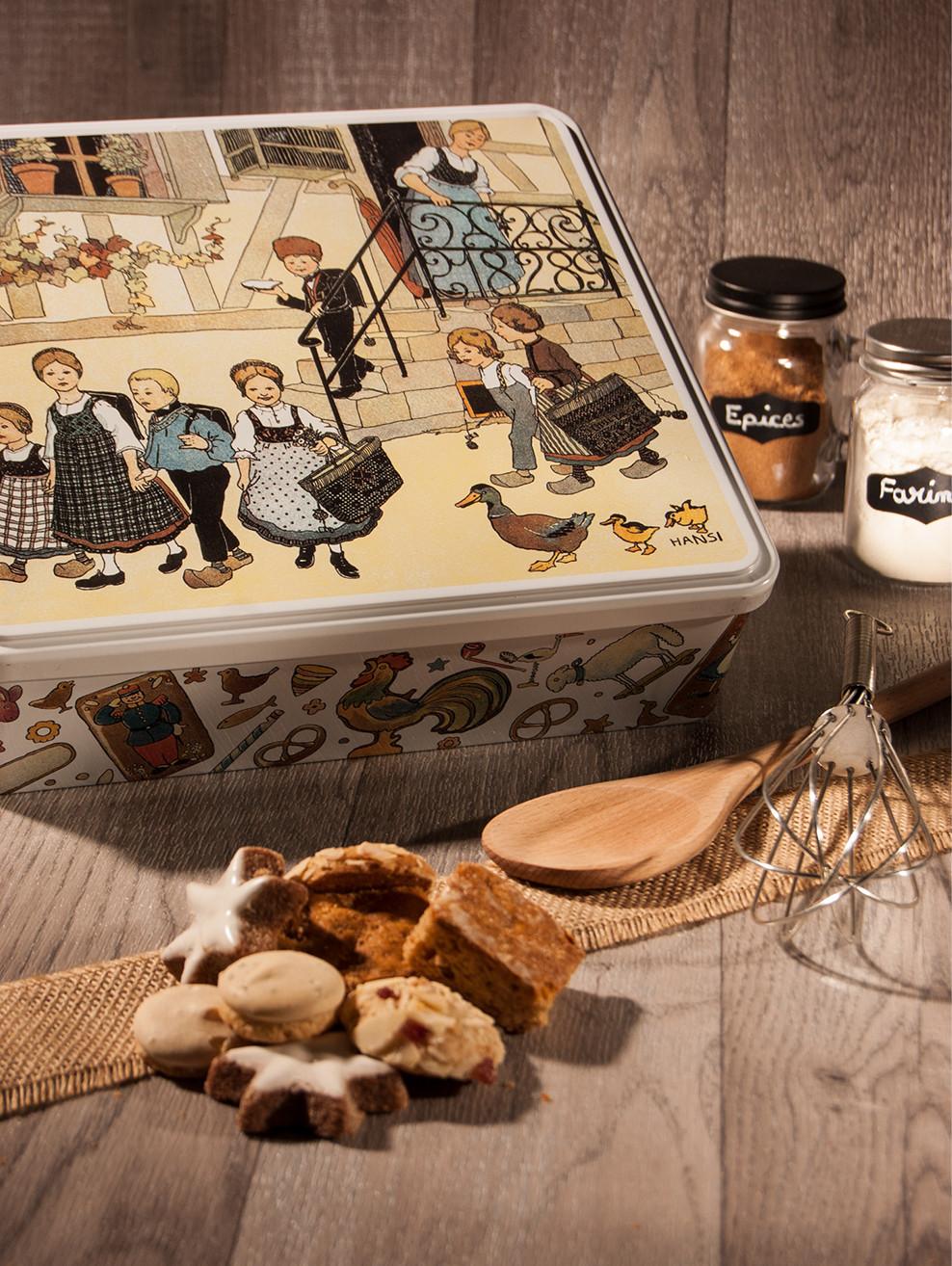 Grande boîte à biscuits décor Hansi