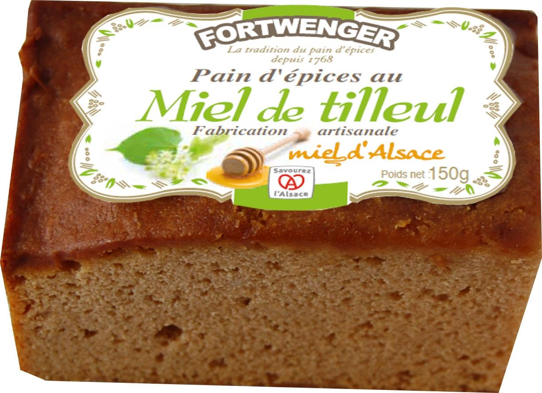 Pain d'épices au miel de tilleul d'Alsace