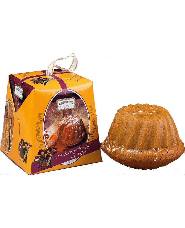 Kougelhopf de pain d'épices au miel dans sa boite cadeau