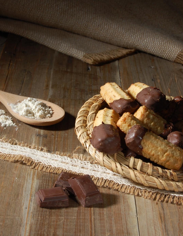 Spritz bredele au beurre enrobé chocolat Biscuiterie de l'Oncle Hansi