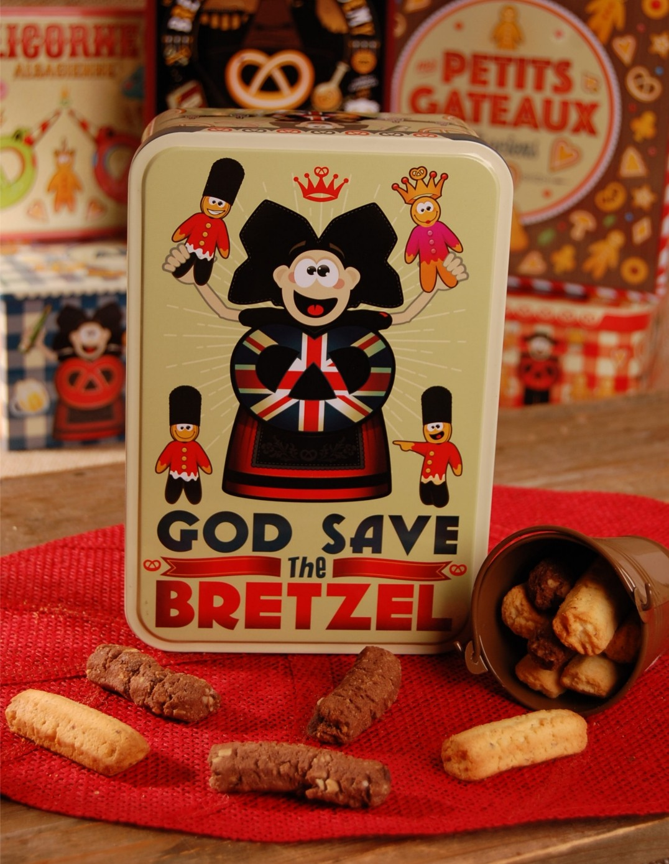 Boite à sucre décor ENGLAND garnie - Bretzel Airlines