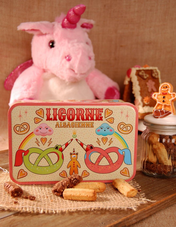 Boite à sucre décor LICORNE garnie - Bretzel Airlines