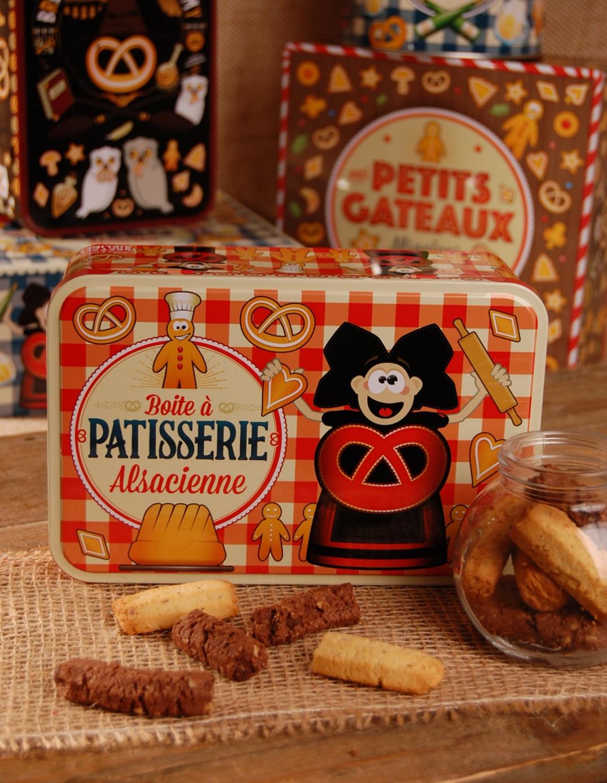 Boite à sucre décor PATISSERIE garnie - Bretzel Airlines