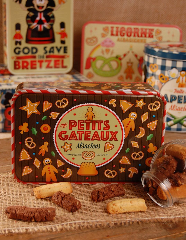 Boite à sucre décor GATEAUX garnie - Bretzel Airlines