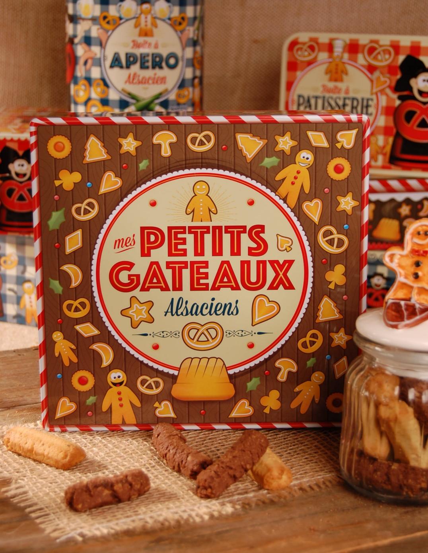 Boite carrée haute décor GATEAUX garnie - Bretzel Airlines