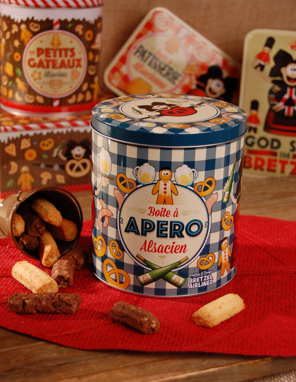 Boite à bretzel décor APERO garnie - Bretzel Airlines