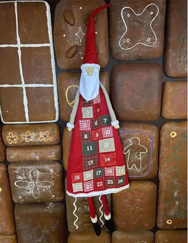 Calendrier de l'avent Père Noël à remplir