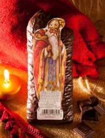 Saint Nicolas en pain d'épices enrobé de chocolat