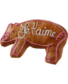 """Pain d'épices d'Alsace forme """"Petit cochon"""""""