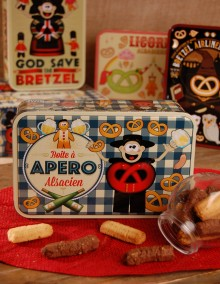 Boite à sucre décor APERO garnie - Bretzel Airlines