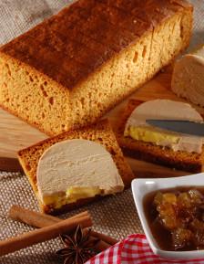 Pain d'épices pur miel spécial foie gras