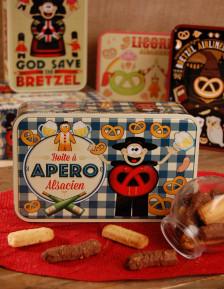 Boite à sucre décor APERO garnie - Bretzel Airlines 300g